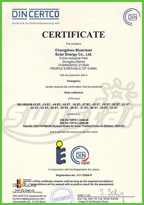blueclean-solar-keymark-certification